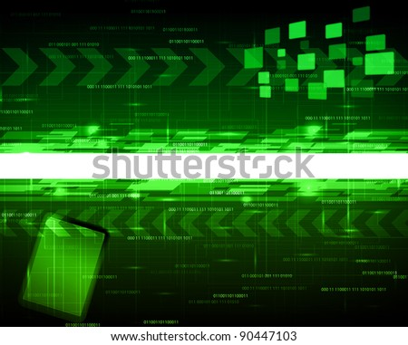 abstract tech design with place for text - stock vector