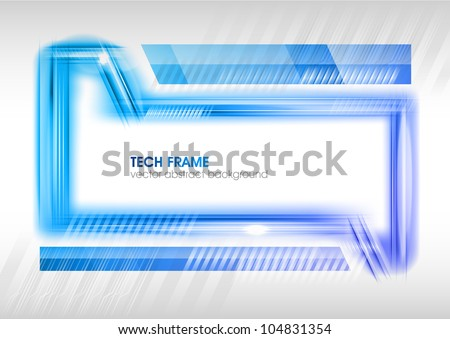 abstract tech frame on the white - stock vector