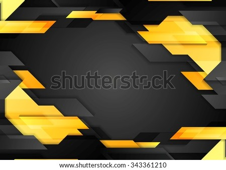 Abstract tech geometric corporate background. Vector design - stock vector