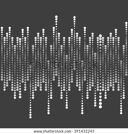 Abstract tech geometric dark halftone background. Vector design