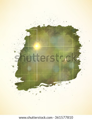 Abstract tech grunge background. - stock vector