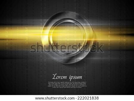 Abstract tech shiny glow background. Vector design - stock vector