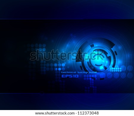Abstract technical backgroubd - stock vector
