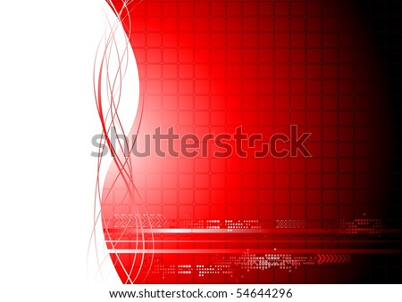 Abstract technical background with waves - stock vector