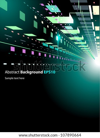 Abstract techno background - stock vector