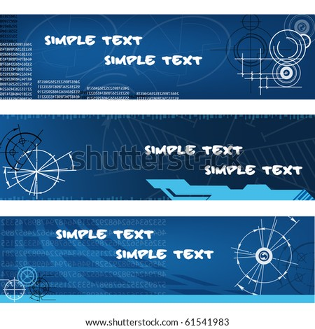 abstract techno banners. vector