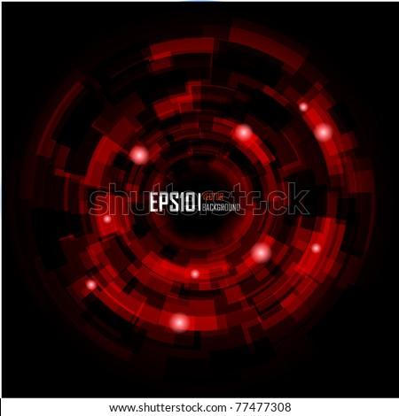 Abstract Techno Circle background. Vector Eps 10. - stock vector