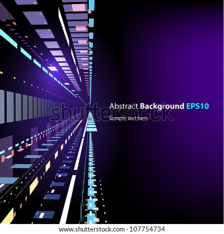 Abstract techno style background in vector - stock vector