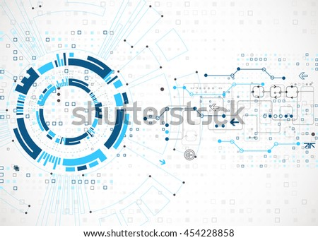 Abstract technological background. Structure square pattern backdrop. Vector - stock vector