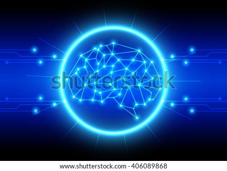 Abstract technological brains vector background. illustration vector design - stock vector