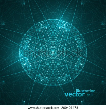 Abstract technological vector background, futuristic art illustration eps10 - stock vector