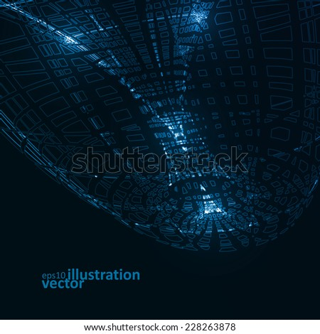 Abstract technological vector background, futuristic art illustration eps10