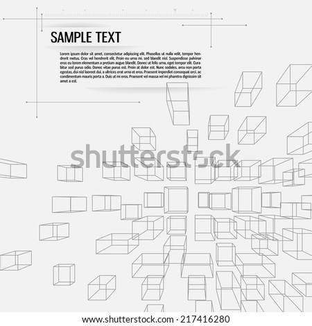Abstract technology background - stock vector