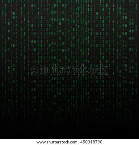 Abstract technology background. Binary Computer Code. - stock vector