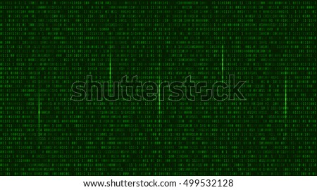 Abstract Technology Background. Binary Computer Code. Programming, Coding, Hacker concept. Vector Background Illustration.