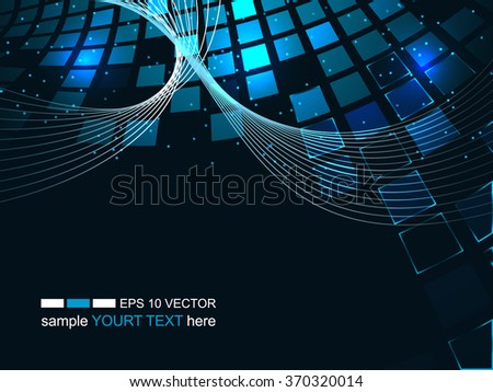Abstract technology background, business & development direction/vector illustration with shiny square pattern and glitter for your business presentation.  - stock vector
