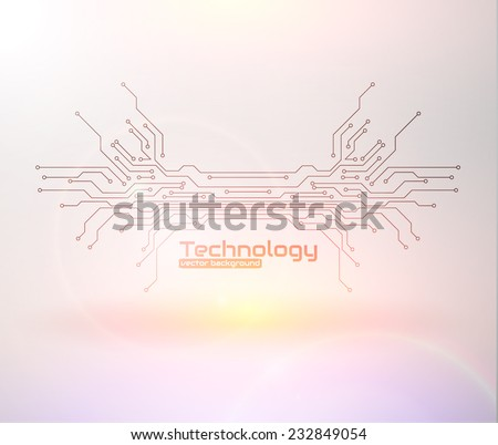 Abstract technology background. Circuit board Vector eps10. - stock vector