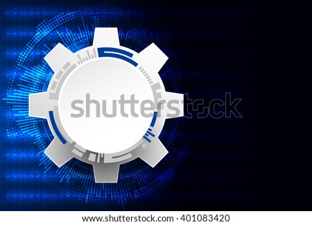 Abstract technology background. Cogwheels theme. Vector illustration