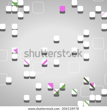 Abstract technology background, dynamic illustration.