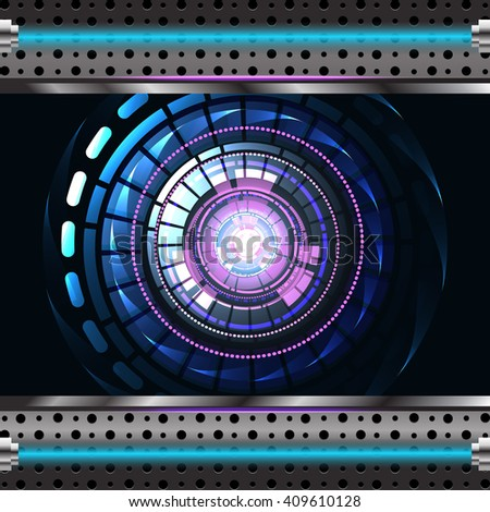 Abstract Technology background for computer graphic website and interne. Vector - stock vector