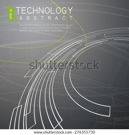 Abstract Technology Background - Illustration - stock vector