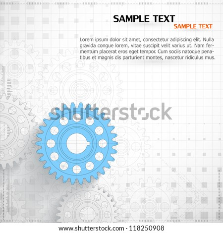 Abstract technology background. Vector. - stock vector