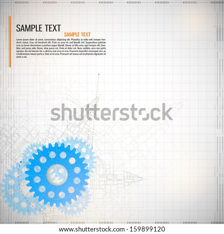 Abstract technology background. Vector - stock vector