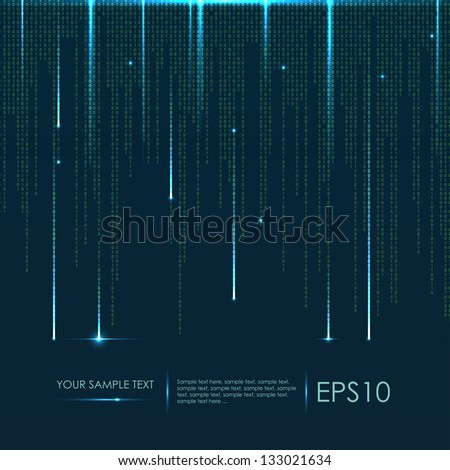 Abstract technology background. Vector binary code - stock vector