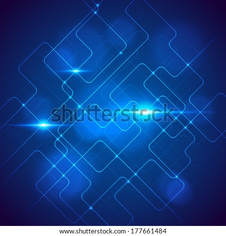 Abstract technology background. Vector illustration. - stock vector