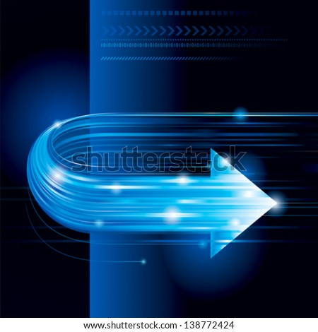 Abstract technology background with arrow shape. - stock vector