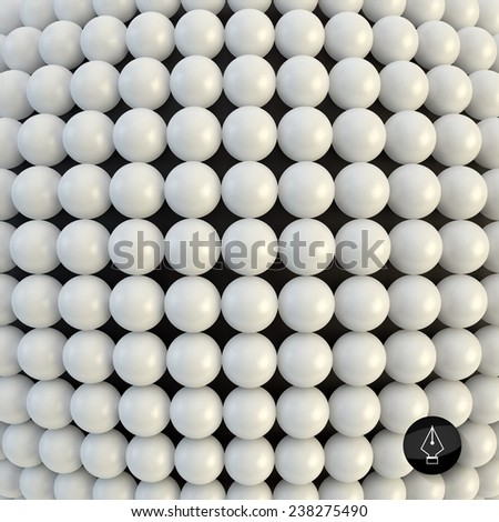 Abstract technology background with balls. Spheric pattern. 3d vector illustration.   - stock vector