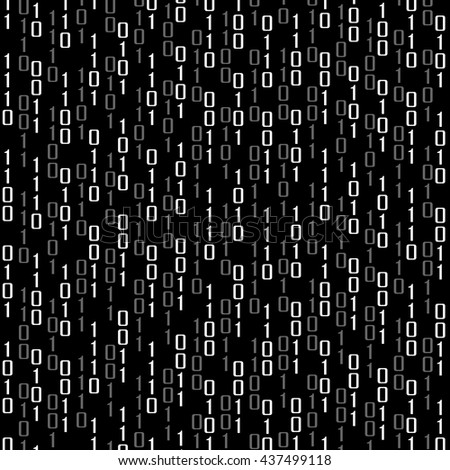 Abstract technology background with binary computer code, vector illustration - stock vector