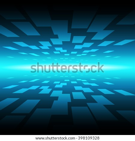 Abstract technology background with bright beam,vector design - stock vector