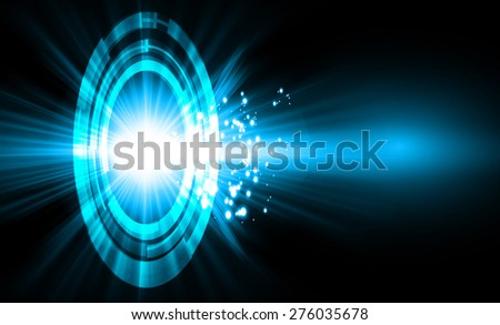 Abstract technology background with bright flare. Vector illustration. dark blue light background for computer graphic website internet and business. star - stock vector