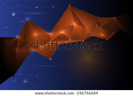 Abstract Technology background with cyberspace - stock vector