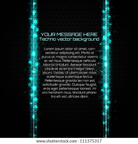 Abstract technology background with place for your text. Vector illustration.