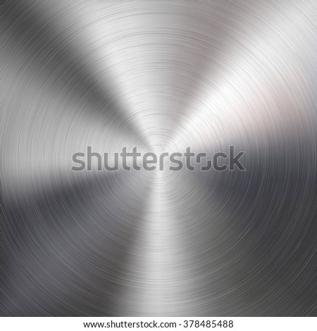 Abstract technology background with polished circular metal texture, chrome, silver, steel, aluminum for design concepts, web, prints, posters, wallpapers, interfaces, banners. Vector illustration. - stock vector