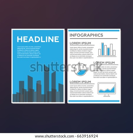 Abstract Technology Brochure Template Stock Vector 663916924