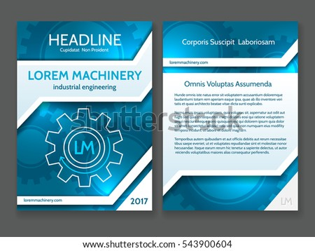 Abstract Technology Brochure Template Modern Digital Stock Vector - Technology brochure template