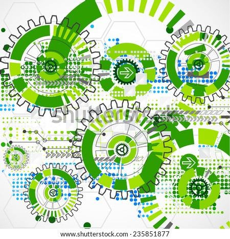 Abstract technology business green colored template background. Vector illustration