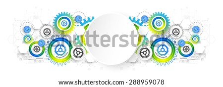 Abstract technology business template background. Vector illustration - stock vector