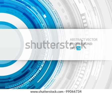 Abstract technology circles and transparent paper vector background eps 10 - stock vector