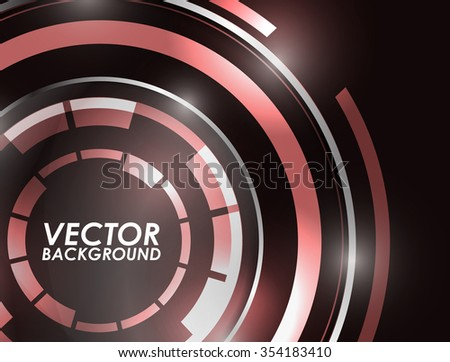 Abstract technology circles vector background.