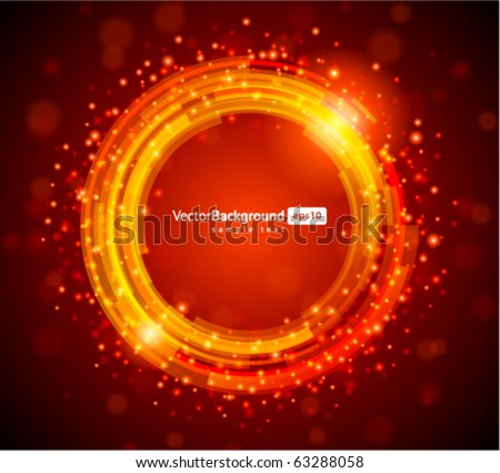 Abstract technology circles vector background - stock vector