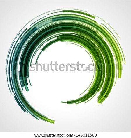 Abstract technology circles vector background with cut paper and shadow. Eps 10. - stock vector