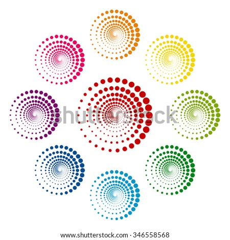 Abstract technology circles vector design element