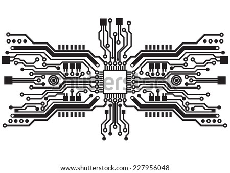 Abstract technology circuit board background texture - stock vector
