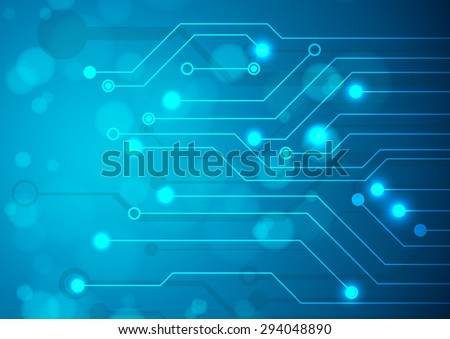 Abstract technology circuit board, Vector background. - stock vector