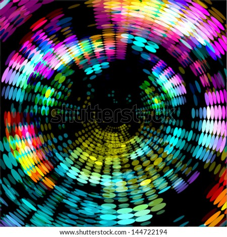 abstract technology concept background, colorful radial dots