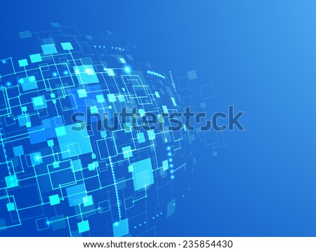 Abstract technology concept of business background. Vector - stock vector